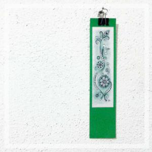 Segnalibro verde boho